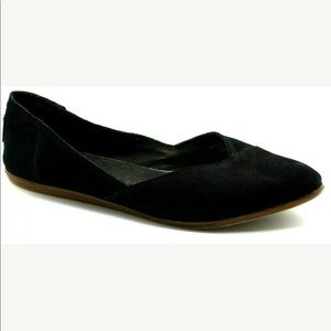 Toms Jutti Flats Slip On Pointed Toe Suede Leather